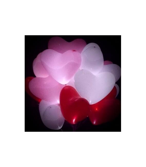 Шарик Сердце светящееся 17 дюймов (43 см)