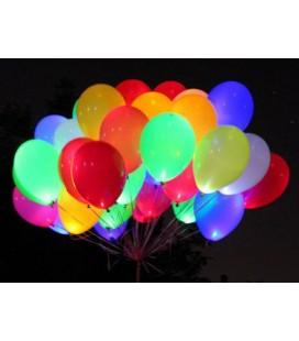 Светящийся шарик 14 дюймов (35 см) белого цвета с разноцветным светодиодом