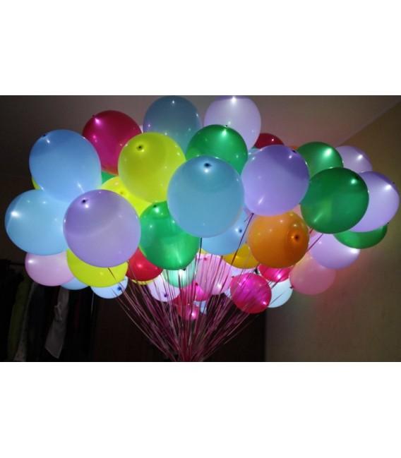 Светящийся шарик 14 дюймов (35 см) ассорти с белым светодиодом
