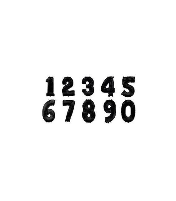 Шар Цифра черная 1м.
