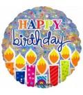 Шар круг Happy Birthday 19 дюймов (48 см)