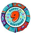 Шар круг цифра Happy Birthday 19 дюймов (48 см)