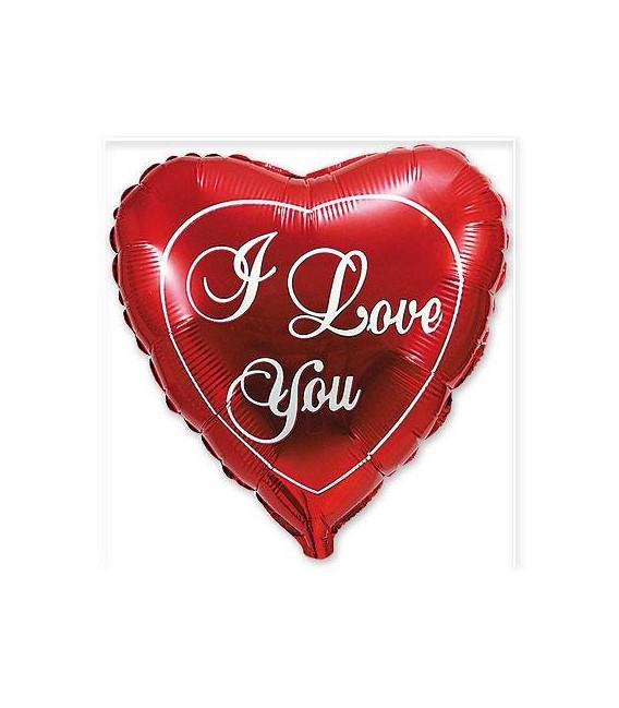 Шар в виде сердца I love you 18 дюймов (46 см)
