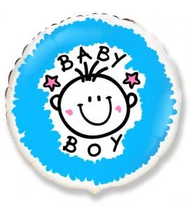Шар Круг Baby Boy 18 дюймов (46 см)