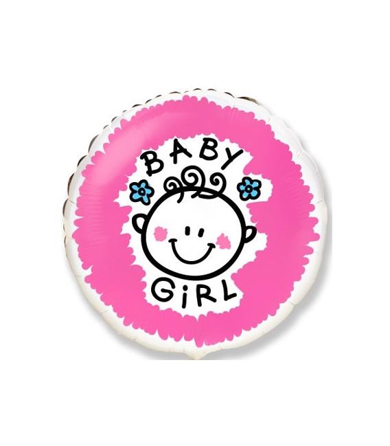 шар круг Baby Girl 18 дюймов (46 см)
