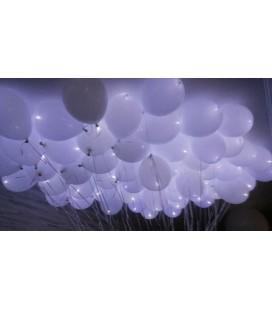 Облако из 30 белых светящихся шаров