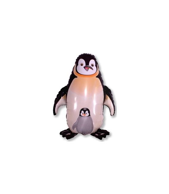 Шар пингвин с детенышем 67х80 см