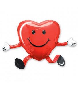 Шар ходячая фигура Сердце 48х66 см