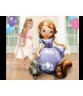 Шар фольгированая фигура в форме мультяшного персонажа принцессы Софии,высота 121 см.,
