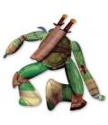 Шар ходячая фигура ниндзя черепашка Леонардо 111х111 см.