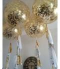 Супер шар гигант с конфетти 45 дюймов (110 см)