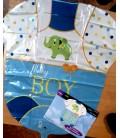 Шар Одежка для малыша в голубом , размером 55x60см.