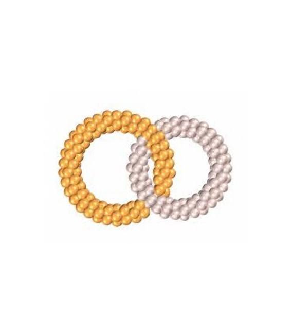 Обручальные кольца из воздушных шаров