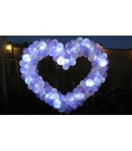Сердце из воздушных шаров Светящееся