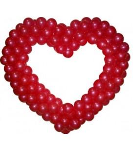Сердце из воздушных шаров Классическое