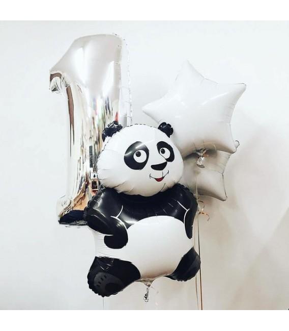 Облако из 5 шаров Панда милашка