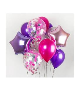 Фонтан из 13 шаров Пурпурный