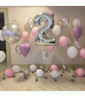 Фотозона Крем из 35 шаров ассорти