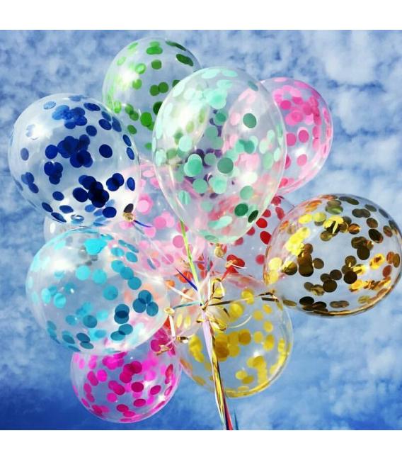 Прозрачный шарик с конфетти 14 дюймов (35 см)