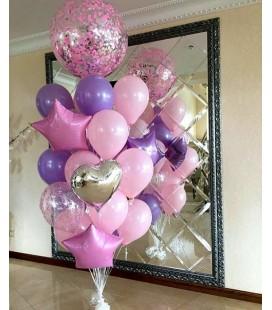 Набор из 17 шаров Розовая Лаванда