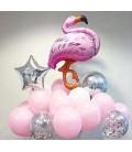 Набор из 17 шаров Розовый Фламинго