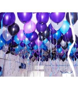 Набор шаров под потолок 100 шт. Ультрафиолет 10 дюймов (25 см)