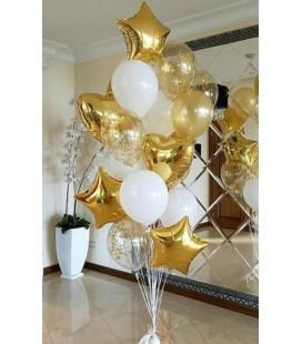 Набор из 17 шаров Белое золото