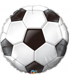 Фольгированная фигура футбольный мяч плоский 18 дюймов (46 см)