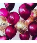 Облако из 30 шаров Золотая бургундия