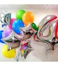 Фонтан из 15 шаров Радужный