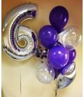 Фонтан из 13 шаров Серебрянная Лаванда