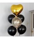 Фонтан из 7 шаров Большое сердце