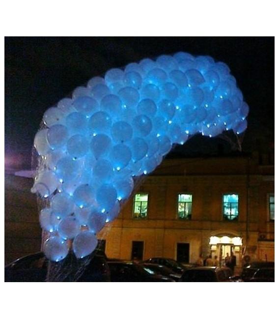 Салют фонарик из 150 светящихся гелиевых шаров