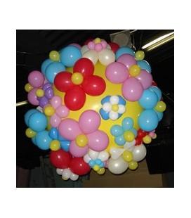 Шар сюрприз Ромашковый (на 100 шаров)
