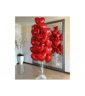 Набор из 25 шаров сердец Любимым