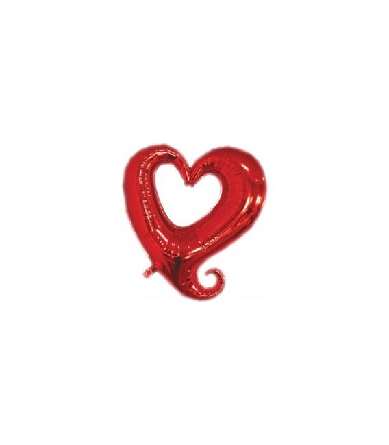 Шар Вензель Сердце большое 32 дюйма (82 см)