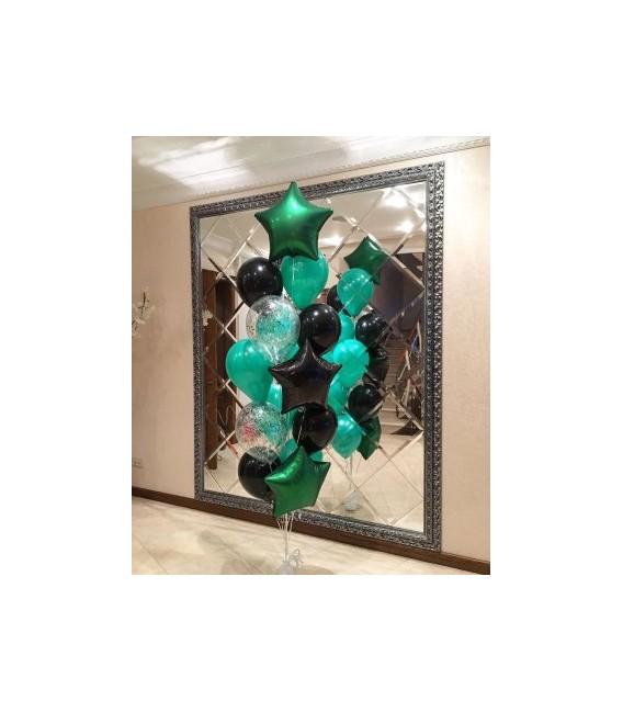 Набор из 15 шаров Мятные сумерки