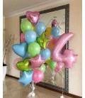 Набор из 23 шаров Трёхцветный фонтан