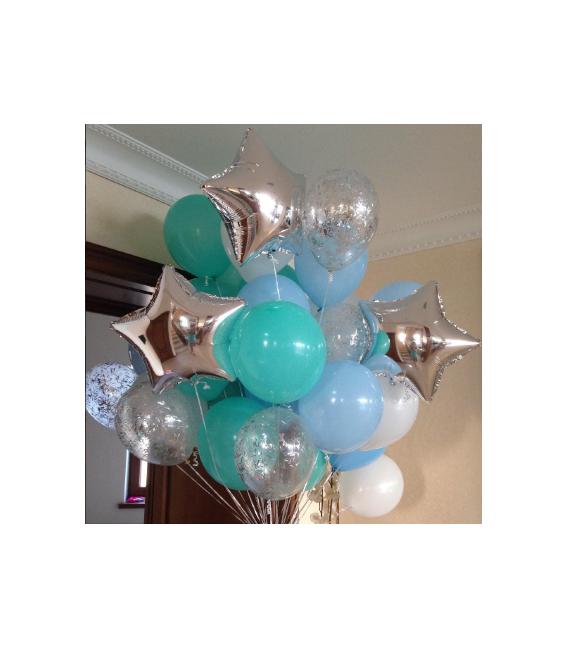 Набор из 23 шаров Бирюзовый