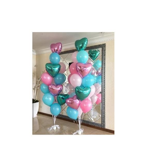 Набор из 19 шаров Мятно-розовый