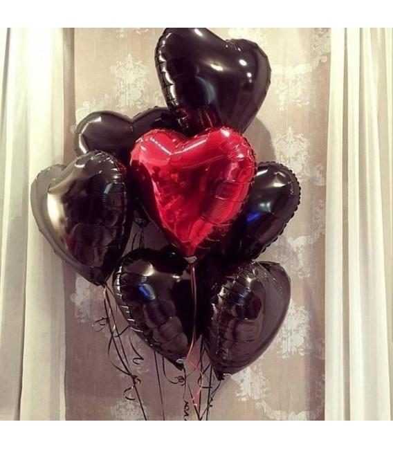 Набор из 7 шаров Ночное сердце