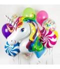 Набор из 19 шаров Цветной единорог