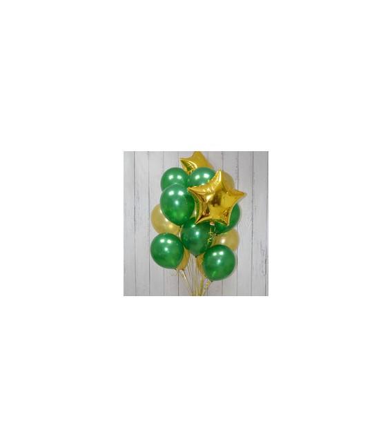 Набор из 17 шаров Изумрудик