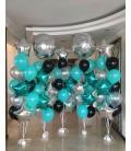 Фотозона из 5 фонтанов 72 шаров Бирюзовый Бум