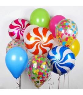 Набор из 11 шаров Конфетный