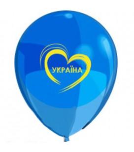 Шарик Люблю Украину 12 дюймов (30 см)