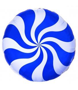 Шар круг Конфета синяя 19 дюймов (48 см)