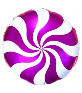 Шар круг Конфета малиновая 19 дюймов (48 см)