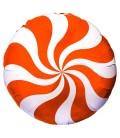 Шар круг Конфета оранжевая 19 дюймов (48 см)