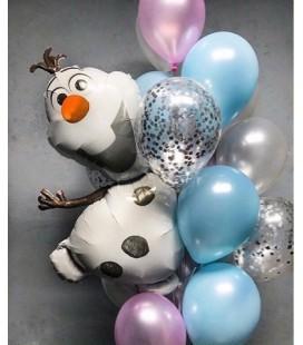 Набор из 17 шаров Веселый Олаф